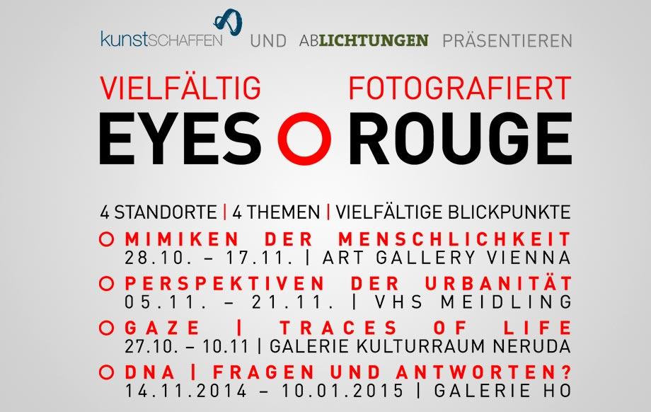 Ausstellungsreihe Eyes Rouge - vielfältig fotografiert Flyer