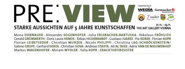 Flyer Kunstschaffen Pre:View 2015