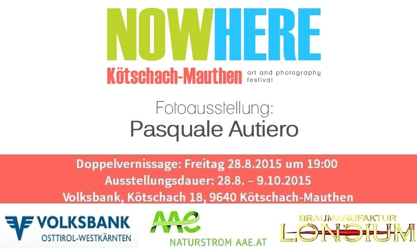 Flyer Vernissage Pasquale Autiero Festival NowHere